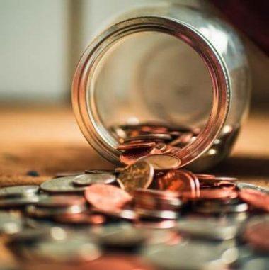 Funding stored in money jar