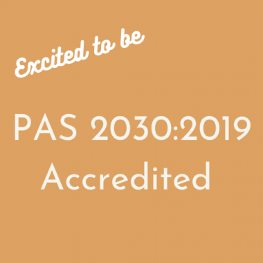 PAS 2030: 2019 Accredited