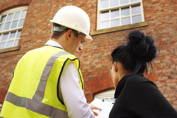 surveyor explaining survey